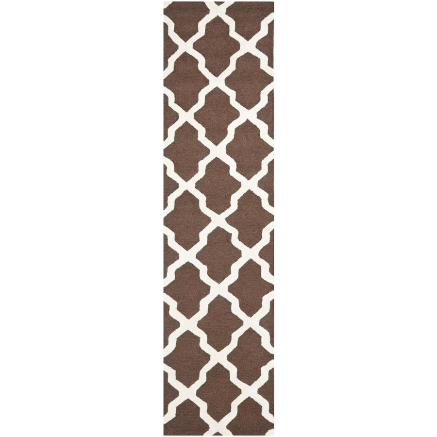 Safavieh Cambridge Dark Brown and Ivory Rectangular Indoor Tufted Runner (Common: 2 x 8; Actual: 30-in W x 96-in L x 0.58-ft Dia)