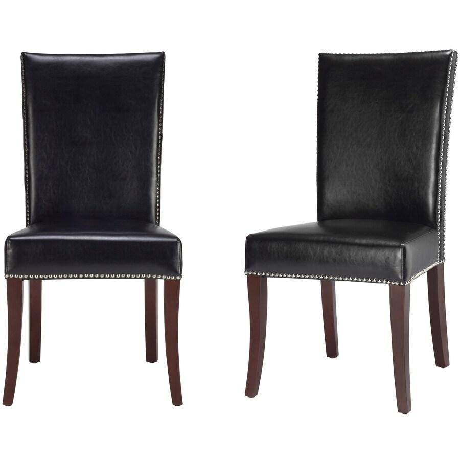 Safavieh Set of 2 Mercer Black Accent Chairs