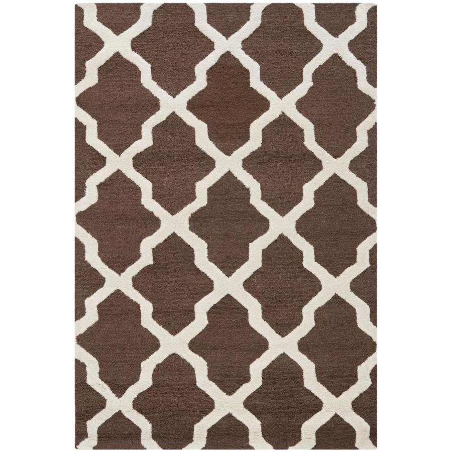 Safavieh Cambridge Dark Brown and Ivory Rectangular Indoor Tufted Area Rug (Common: 4 x 6; Actual: 48-in W x 72-in L x 0.42-ft Dia)