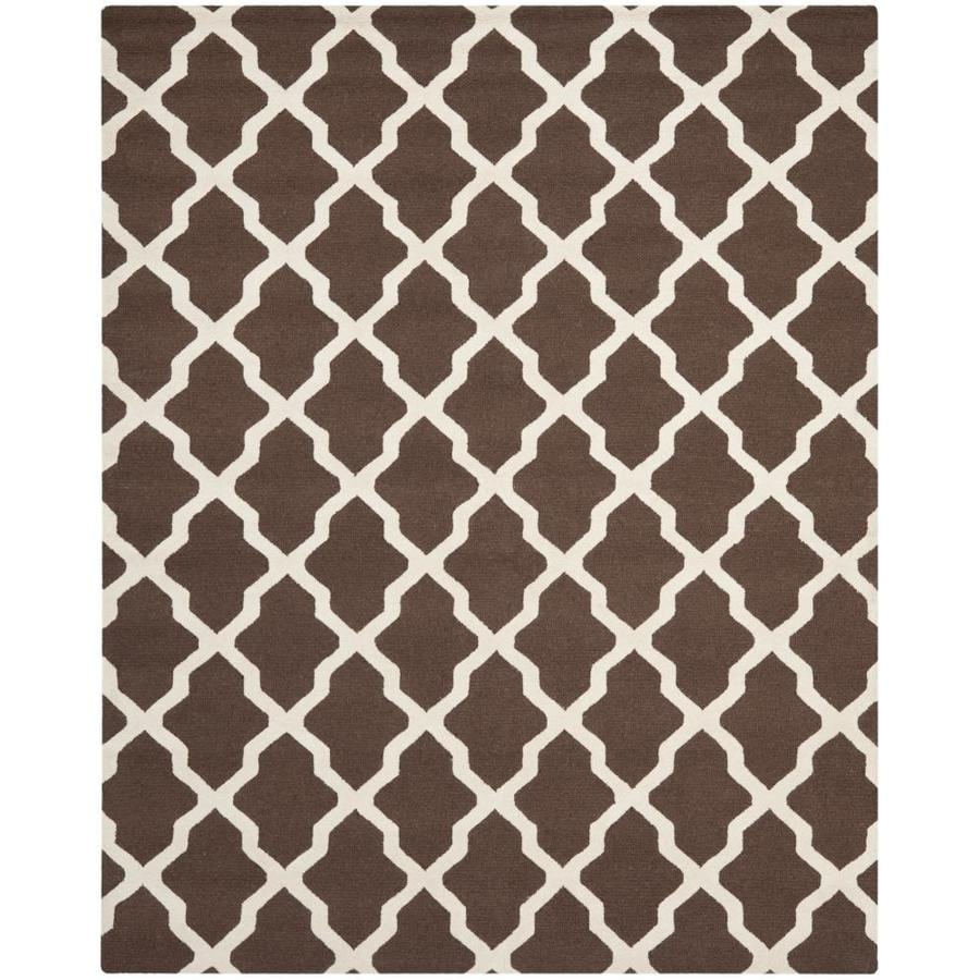 Safavieh Cambridge White and Black Rectangular Indoor Tufted Area Rug (Common: 9 x 12; Actual: 108-in W x 144-in L x 0.75-ft Dia)