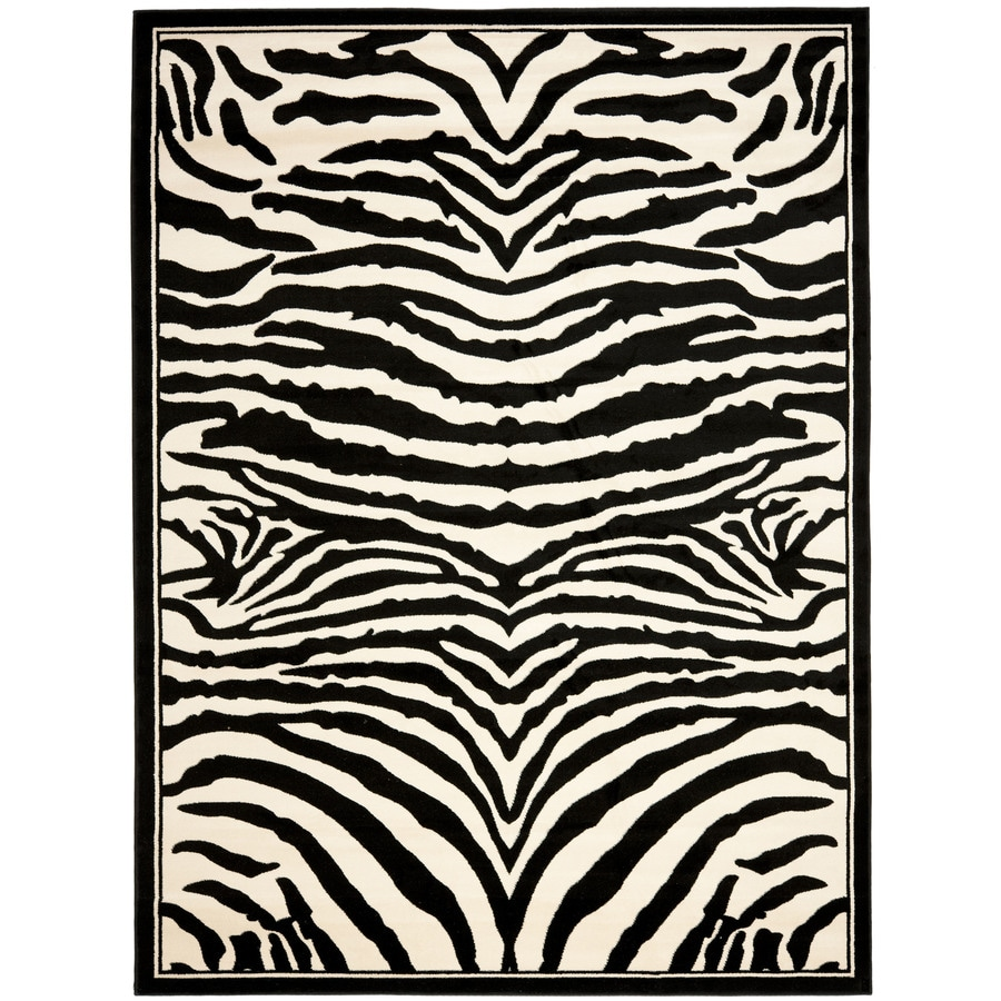 Safavieh Lyndhurst Zebra White/Black Indoor Animals Runner (Common: 2 x 6; Actual: 2.25-ft W x 6-ft L)
