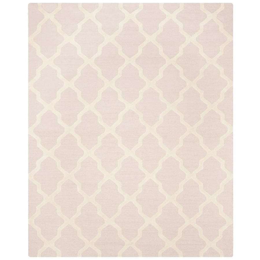 Safavieh Cambridge Light Pink/Ivory Indoor Handcrafted Moroccan Area Rug (Common: 8 x 10; Actual: 6-ft W x 10-ft L)