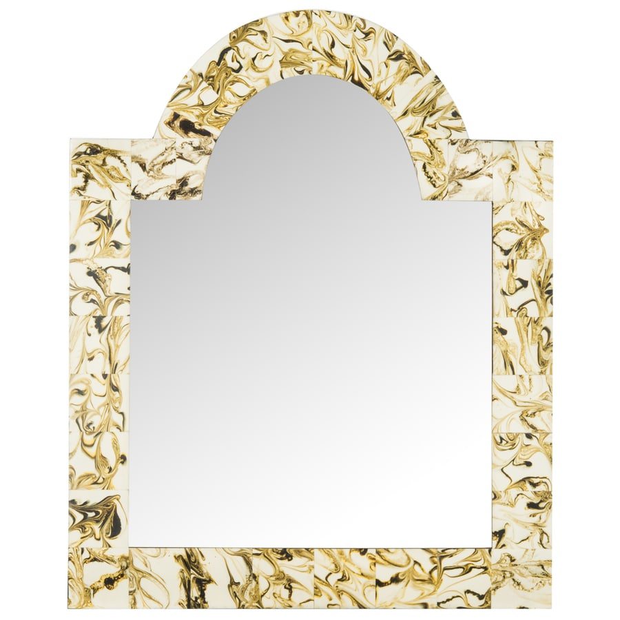 Safavieh 24-in x 30-in Multi Polished Arch Framed Contemporary Wall Mirror
