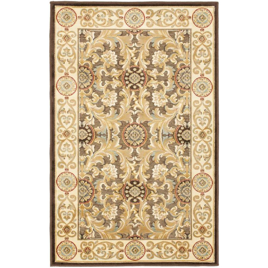 Safavieh Paradise Madera Brown Rectangular Indoor Machine-made Oriental Area Rug (Common: 4 x 6; Actual: 4-ft W x 5.583-ft L)