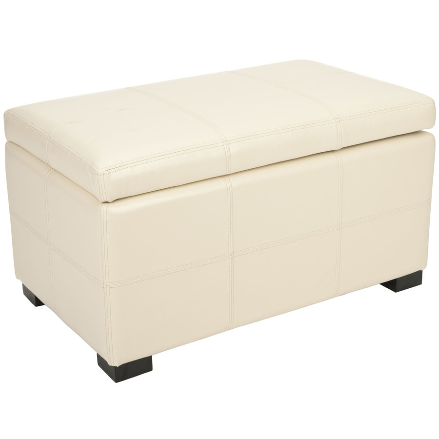 Safavieh Hudson Flat Cream Indoor Storage Bench