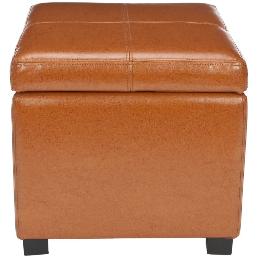 Safavieh Madison Casual Saddle Faux Leather Storage
