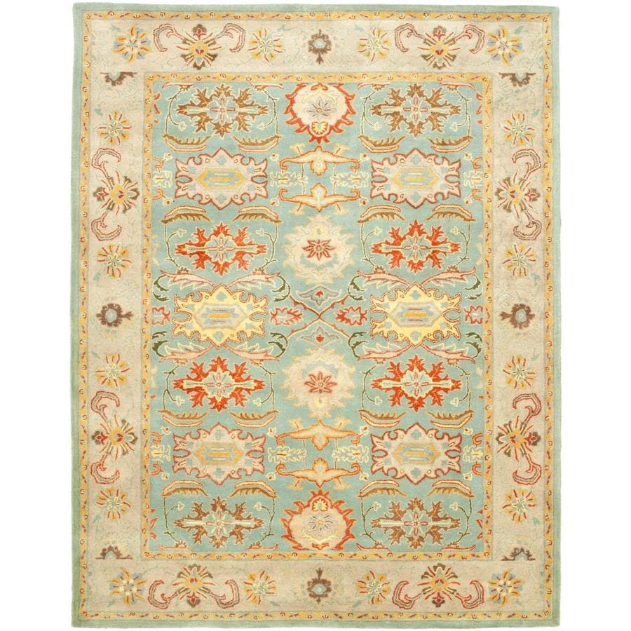 Safavieh Heritage Peshwar Light Blue/Ivory Indoor Handcrafted Oriental Area Rug (Common: 6 x 9; Actual: 6-ft W x 9-ft L)