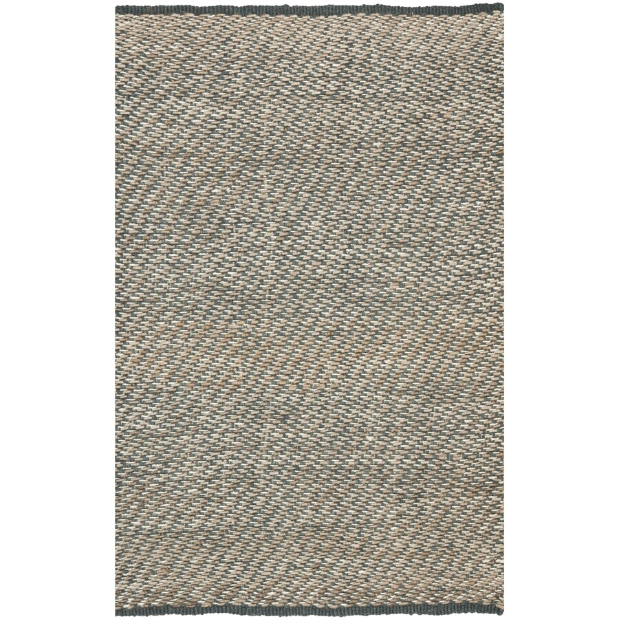 Safavieh Natural Fiber Munsey Blue/Natural Rectangular Indoor Handcrafted Coastal Area Rug (Common: 5 X 8; Actual: 5-ft W x 8-ft L)