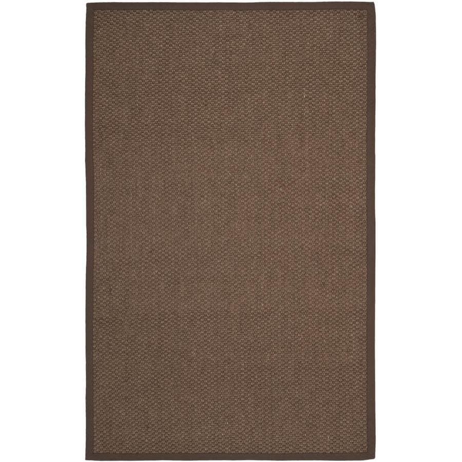 Safavieh Natural Fiber Martinque Chocolate Indoor Coastal Area Rug (Common: 6 x 9; Actual: 6-ft W x 9-ft L)