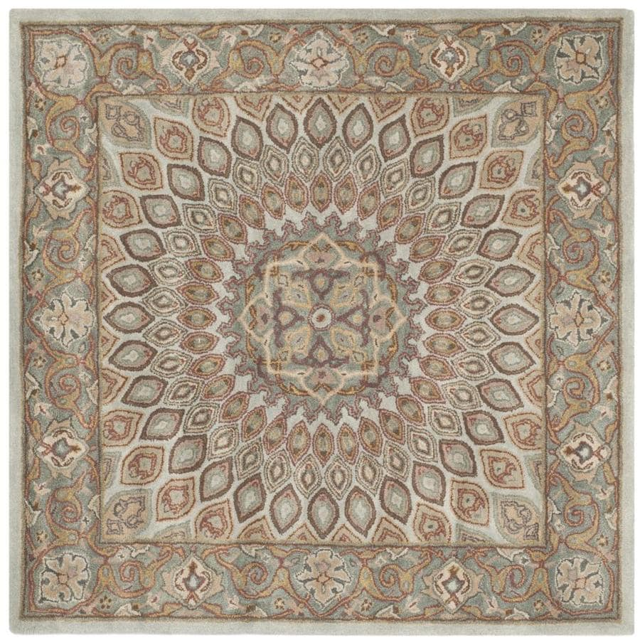 Safavieh Heritage Chador Blue Gray Square Indoor Handcrafted