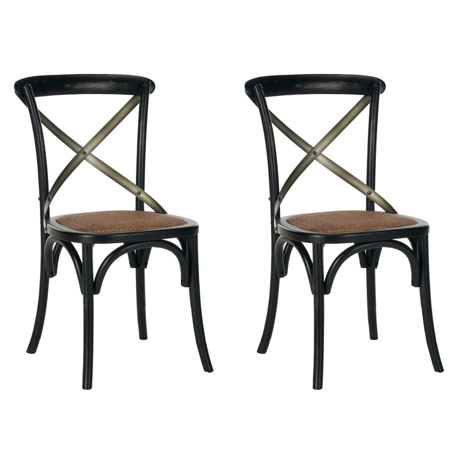 Safavieh Set of 2 Eleanor Rustic Hickory Accent Chairs