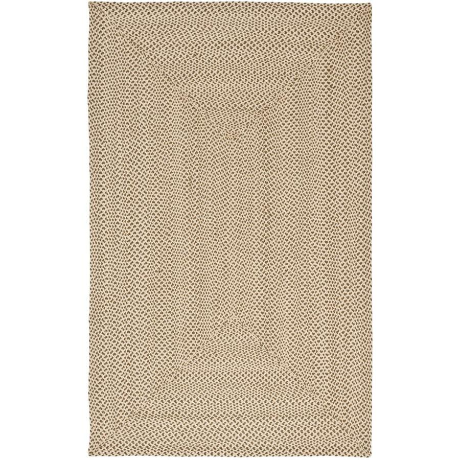 Safavieh Braided Salem Beige/Brown Rectangular Indoor Handcrafted Coastal Throw Rug (Common: 2 x 4; Actual: 2.5-ft W x 4-ft L)