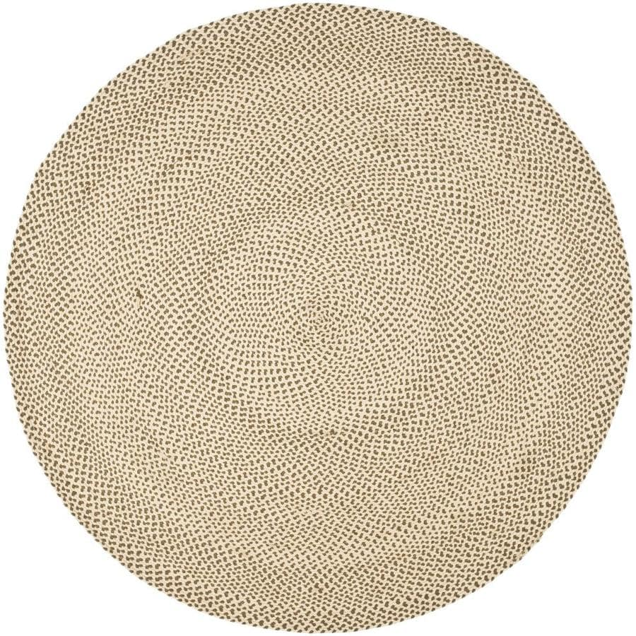 Shop Safavieh Braided Salem Beige Brown Round Indoor