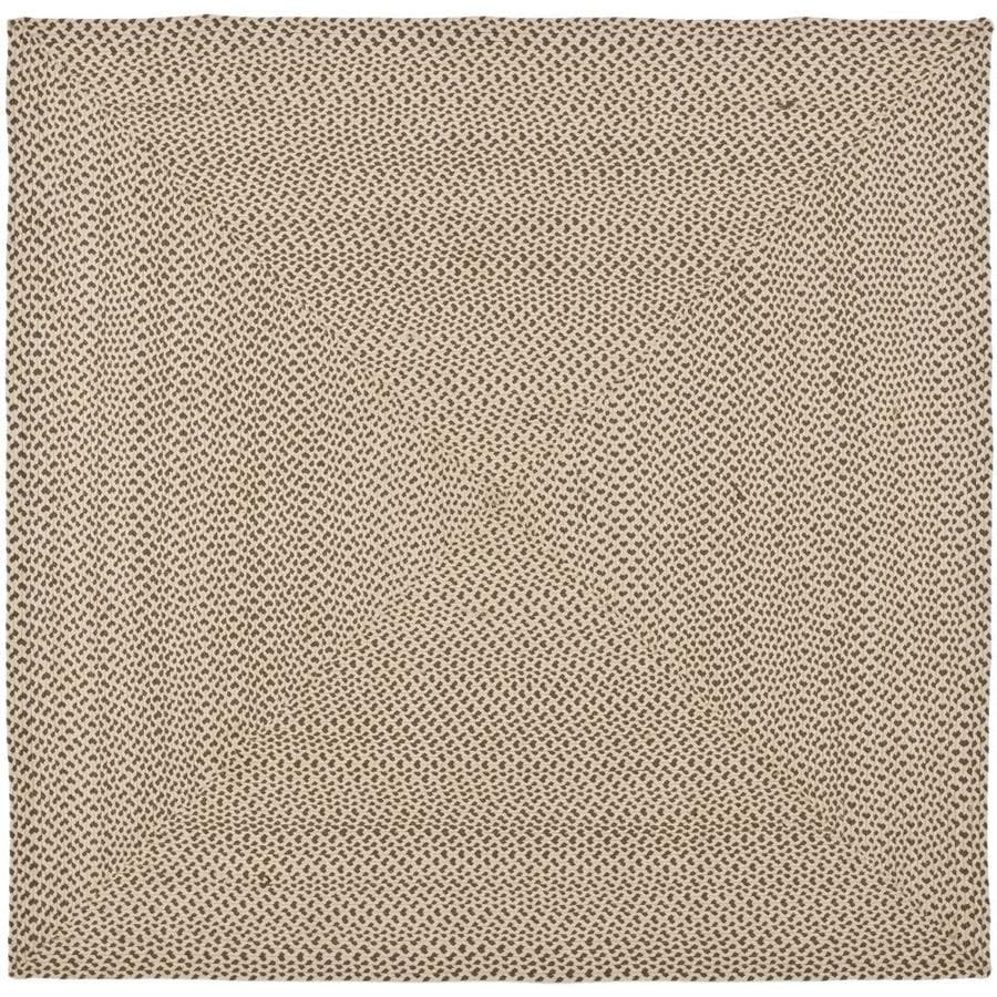 Safavieh Braided Beige/Brown Square Indoor Handcrafted Coastal Area Rug (Common: 6 x 6; Actual: 6-ft W x 6-ft L)