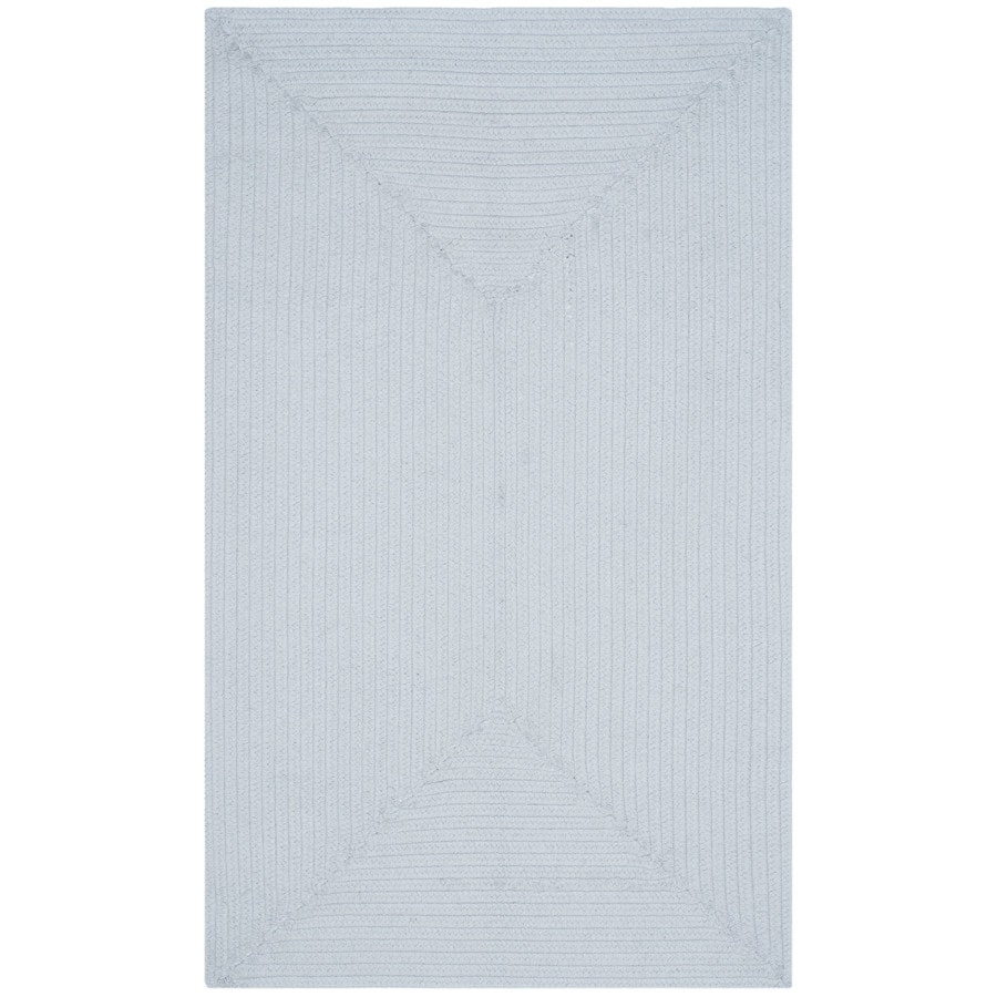 Safavieh Braided Peabody Light Blue Rectangular Indoor Handcrafted Coastal Area Rug (Common: 4 x 6; Actual: 4-ft W x 6-ft L)