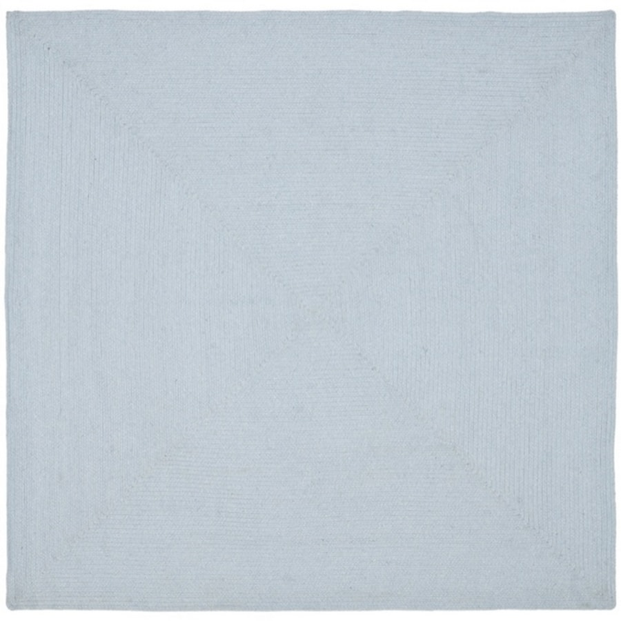 Safavieh Braided Peabody Light Blue Square Indoor Handcrafted Coastal Area Rug (Common: 6 x 6; Actual: 6-ft W x 6-ft L)