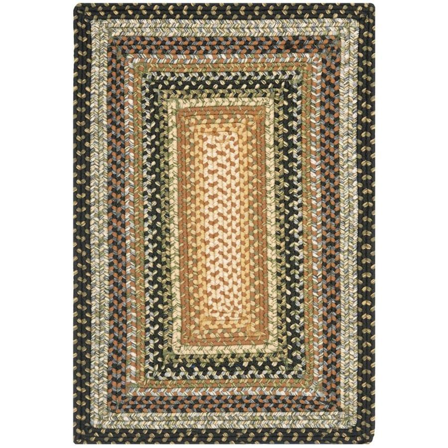 Safavieh Braided Multi Rectangular Indoor Braided Throw Rug (Common: 2 x 4; Actual: 2.5-ft W x 4-ft L x 0-ft Dia)