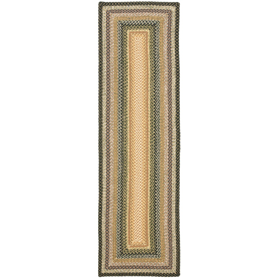 Safavieh Braided Adam Multi Rectangular Indoor Handcrafted Coastal Runner (Common: 2 x 8; Actual: 2.25-ft W x 8-ft L)