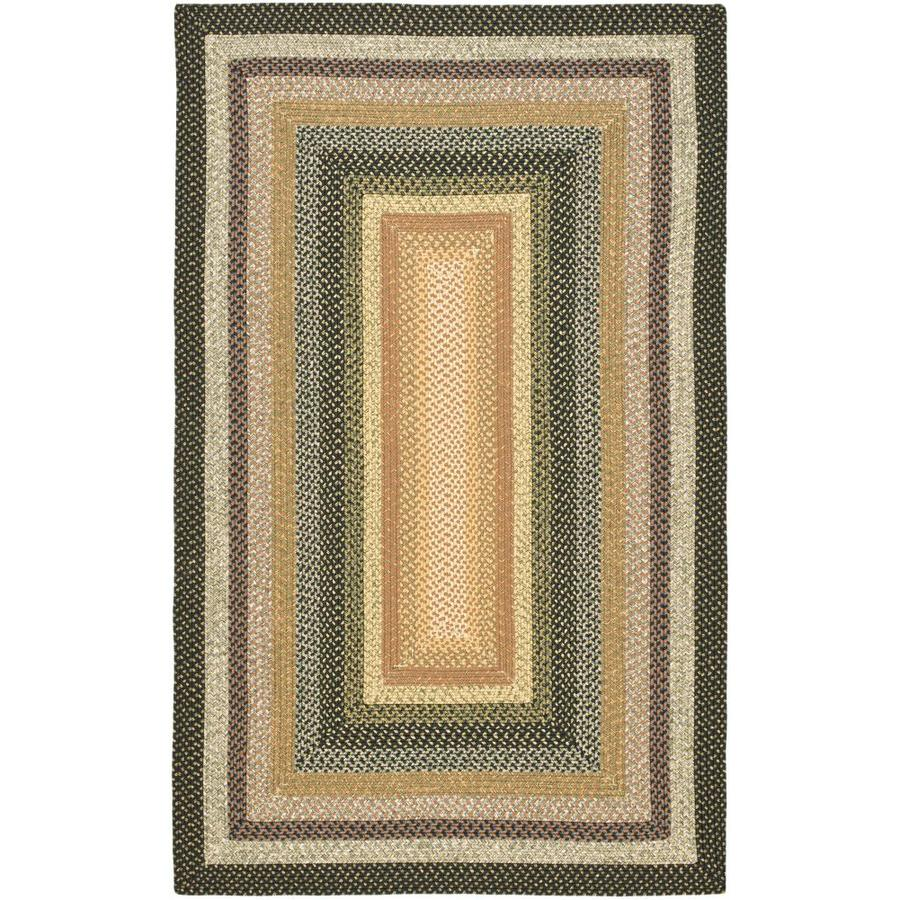 Safavieh Braided Adam Multi Rectangular Indoor Handcrafted Coastal Area Rug (Common: 8 x 10; Actual: 8-ft W x 10-ft L)