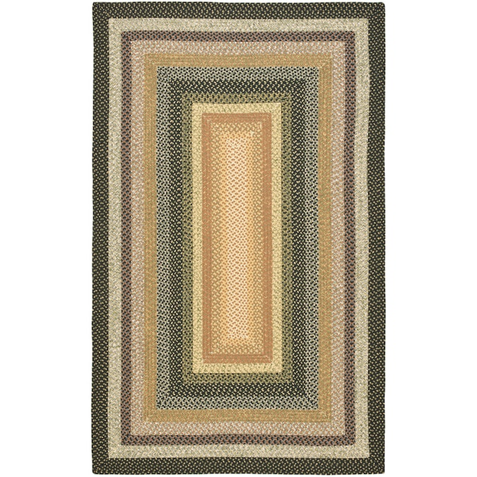 Safavieh Braided Adam 9 X 12 Multi Indoor Stripe Farmhouse Cottage Handcrafted Area Rug In The Rugs Department At Lowes Com