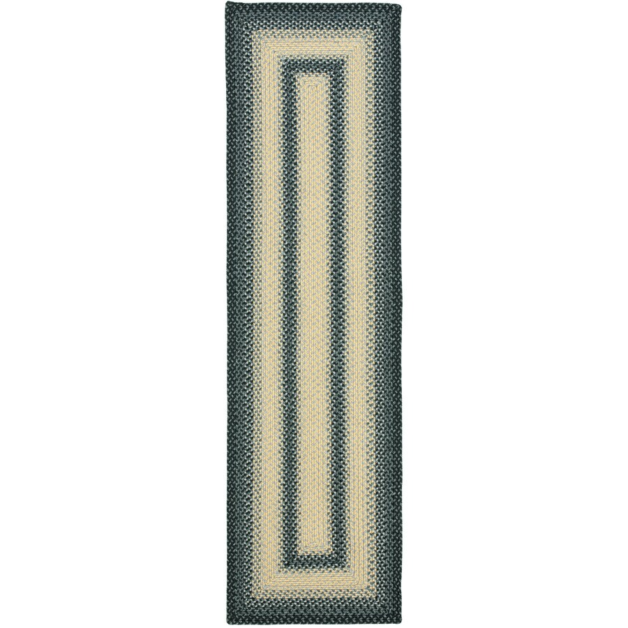 Safavieh Braided Blue and Grey Rectangular Indoor Braided Runner (Common: 2 x 8; Actual: 2.25-ft W x 8-ft L)