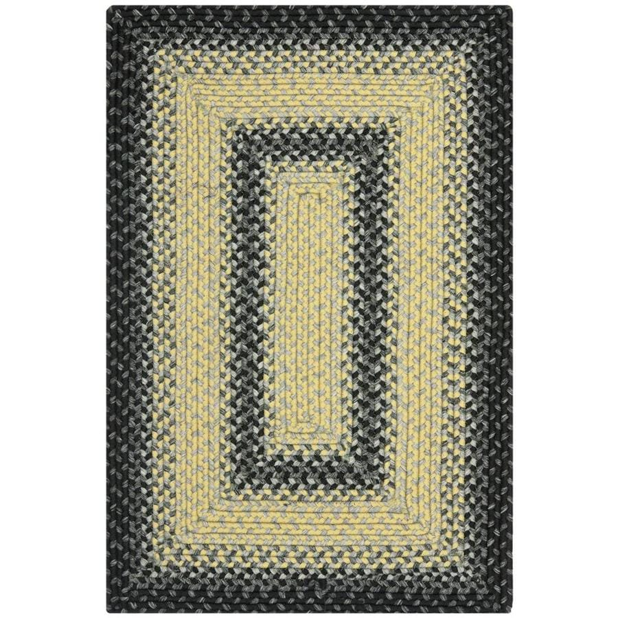 Safavieh Braided Higham Black/Gray Indoor Handcrafted Coastal Throw Rug (Common: 3 x 5; Actual: 3-ft W x 5-ft L)