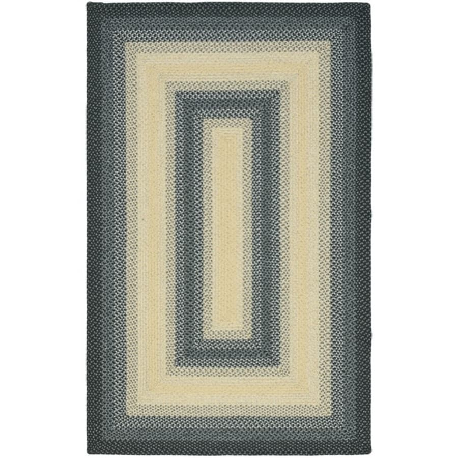 Safavieh Braided Black/Grey Rectangular Indoor Braided Area Rug (Common: 9 x 12; Actual: 9-ft W x 12-ft L)