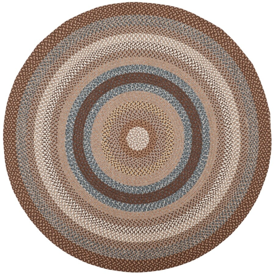 Shop Safavieh Braided Charleston Brown Multi Round Indoor