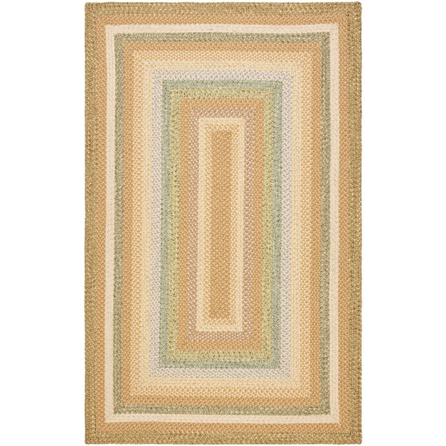 Safavieh Braided Concord Tan/Multi Rectangular Indoor Handcrafted Coastal Area Rug (Common: 5 x 8; Actual: 5-ft W x 8-ft L)