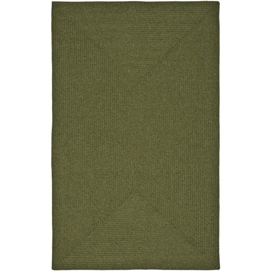 Safavieh Braided Green Rectangular Indoor Handcrafted Coastal Area Rug (Common: 5 x 7; Actual: 5-ft W x 8-ft L)