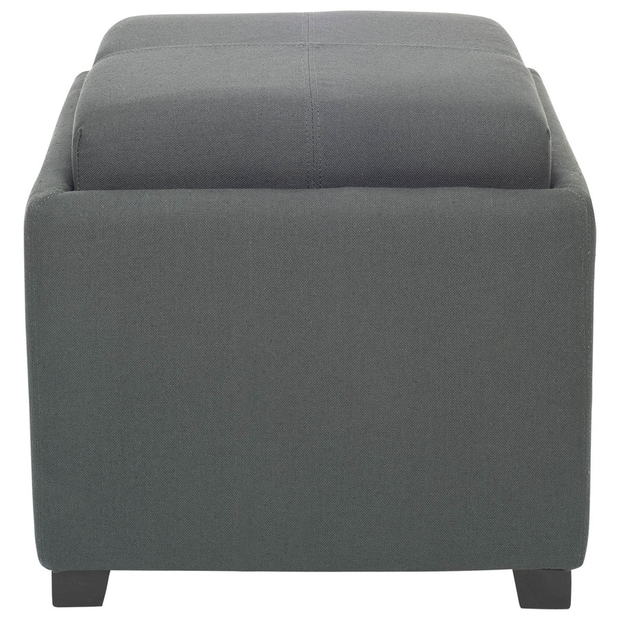 Ottomans Lifestyle Single Ottoman: Safavieh Harrison Single Gray Square Storage Ottoman At