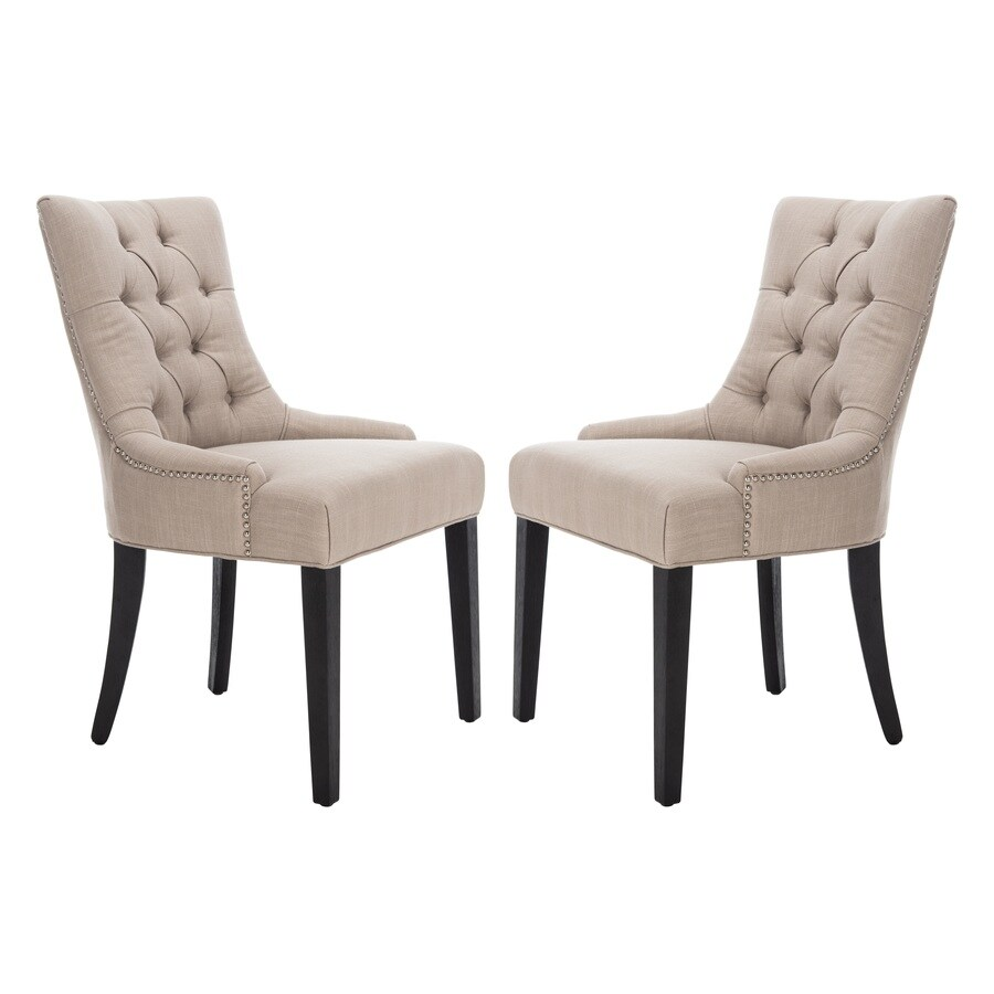 Safavieh Set of 2 Mercer Sand Side Chairs