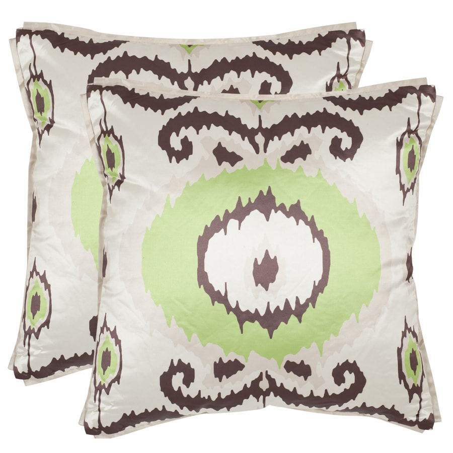 Safavieh Giselle 2-Piece 18-in W x 18-in L Lime/Green Square Indoor Decorative Pillow
