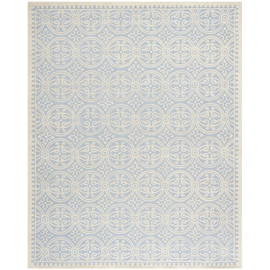 Safavieh Cambridge Silver and Ivory Rectangular Indoor Tufted Area Rug (Common: 8 x 10; Actual: 96-in W x 120-in L x 0.67-ft Dia)