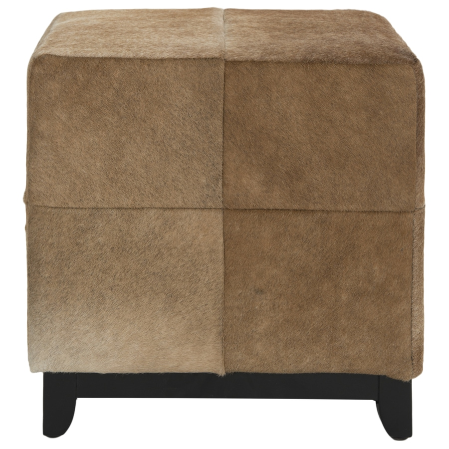 Safavieh Mercer Tan Square Ottoman