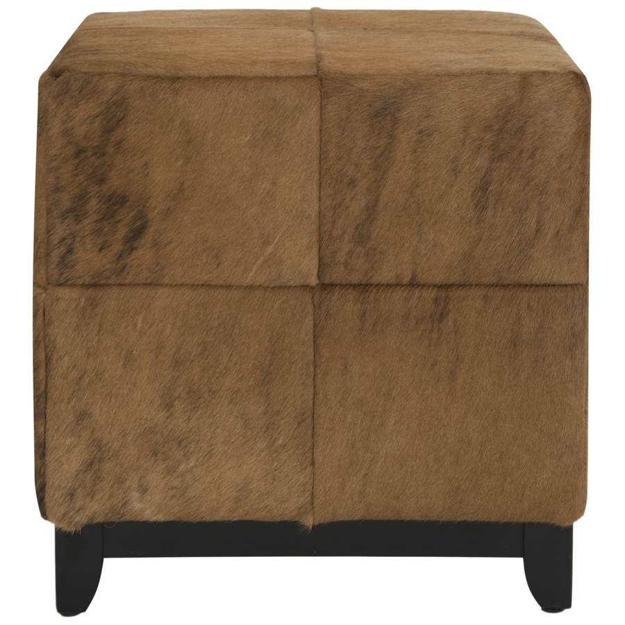 Safavieh Mercer Black/Brown Square Ottoman