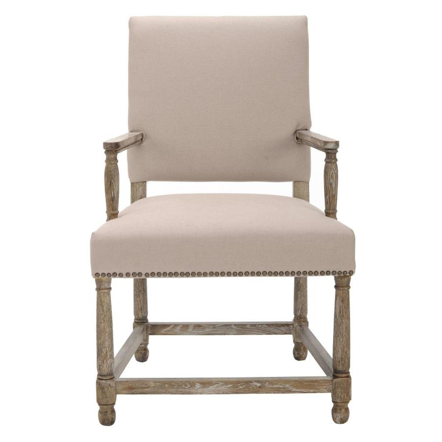 Safavieh Faxon Rustic Taupe Linen Accent Chair