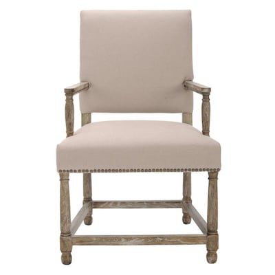 Swell Safavieh Faxon Rustic Taupe Linen Accent Chair At Lowes Com Gmtry Best Dining Table And Chair Ideas Images Gmtryco