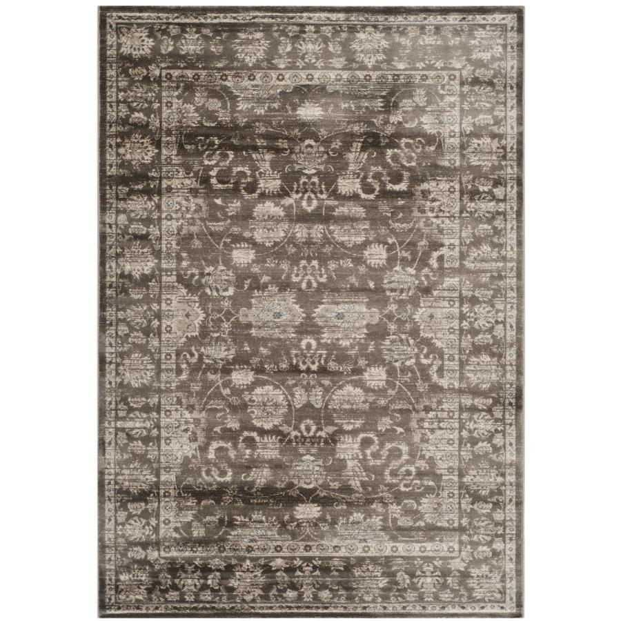 Safavieh Vintage Brown/Ivory Rectangular Indoor Machine-Made Distressed Area Rug (Common: 5 x 7; Actual: 5.083-ft W x 7.583-ft L)