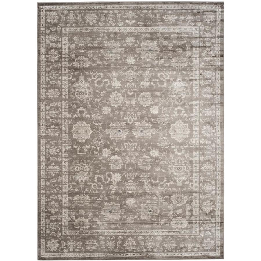 Safavieh Vintage Brown/Ivory Rectangular Indoor Machine-Made Distressed Area Rug (Common: 8 X 11; Actual: 8-ft W x 11-ft L)