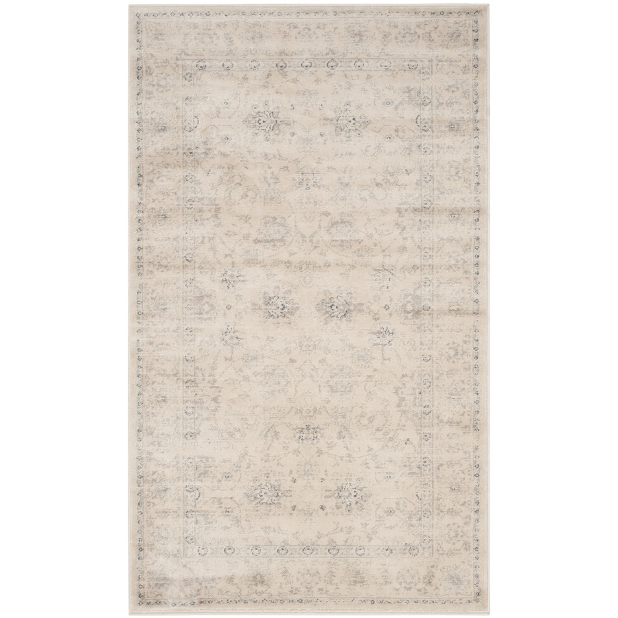 Safavieh Vintage Dream Crme Rectangular Indoor Machine-made Distressed Area Rug (Common: 4 x 6; Actual: 4-ft W x 5.6-ft L)