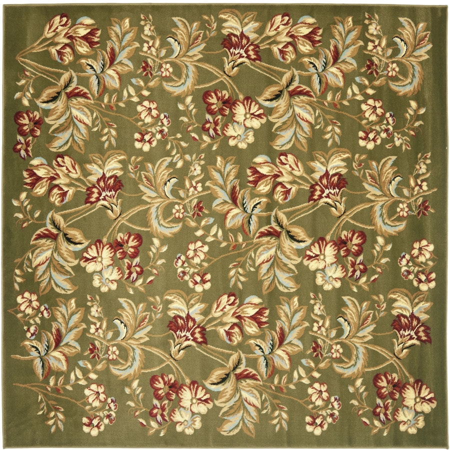 Safavieh Lyndhurst Oakdale Sage Square Indoor Machine-made Oriental Area Rug (Common: 8 x 8; Actual: 8-ft W x 8-ft L)
