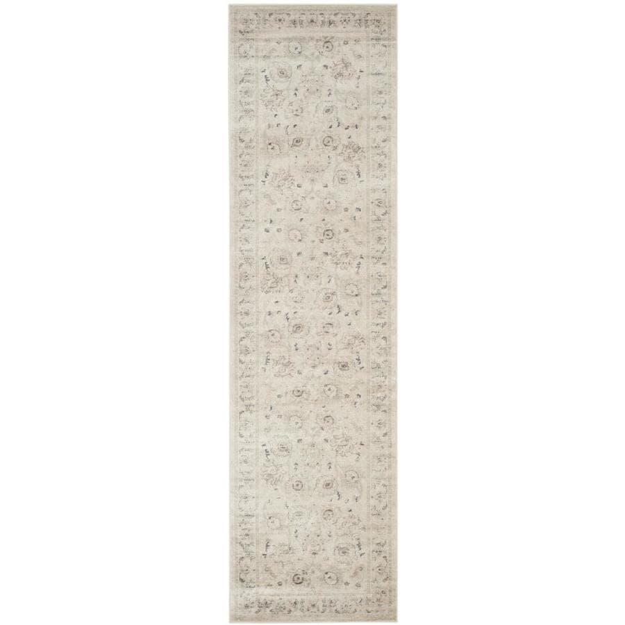 Safavieh Vintage Light Gray/Ivory Rectangular Indoor Machine-Made Distressed Runner (Common: 2 x 8; Actual: 2.167-ft W x 8-ft L x 0-ft Dia)