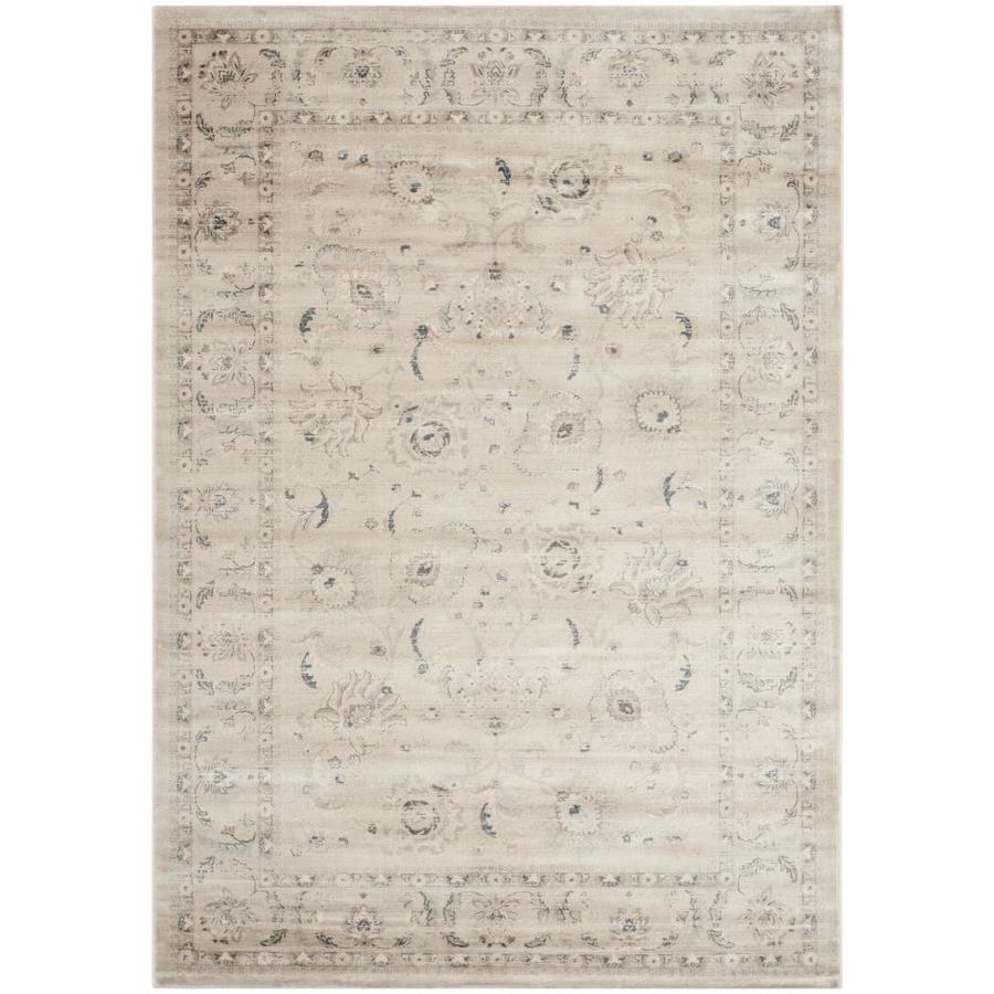 Safavieh Vintage Light Gray/Ivory Rectangular Indoor Machine-Made Distressed Area Rug (Common: 5 x 7; Actual: 5.083-ft W x 7.583-ft L)