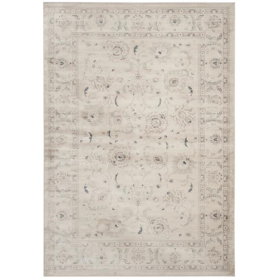 Safavieh Vintage Light Gray/Ivory Rectangular Indoor Machine-Made Distressed Area Rug (Common: 6 x 9; Actual: 6.583-ft W x 9.167-ft L)