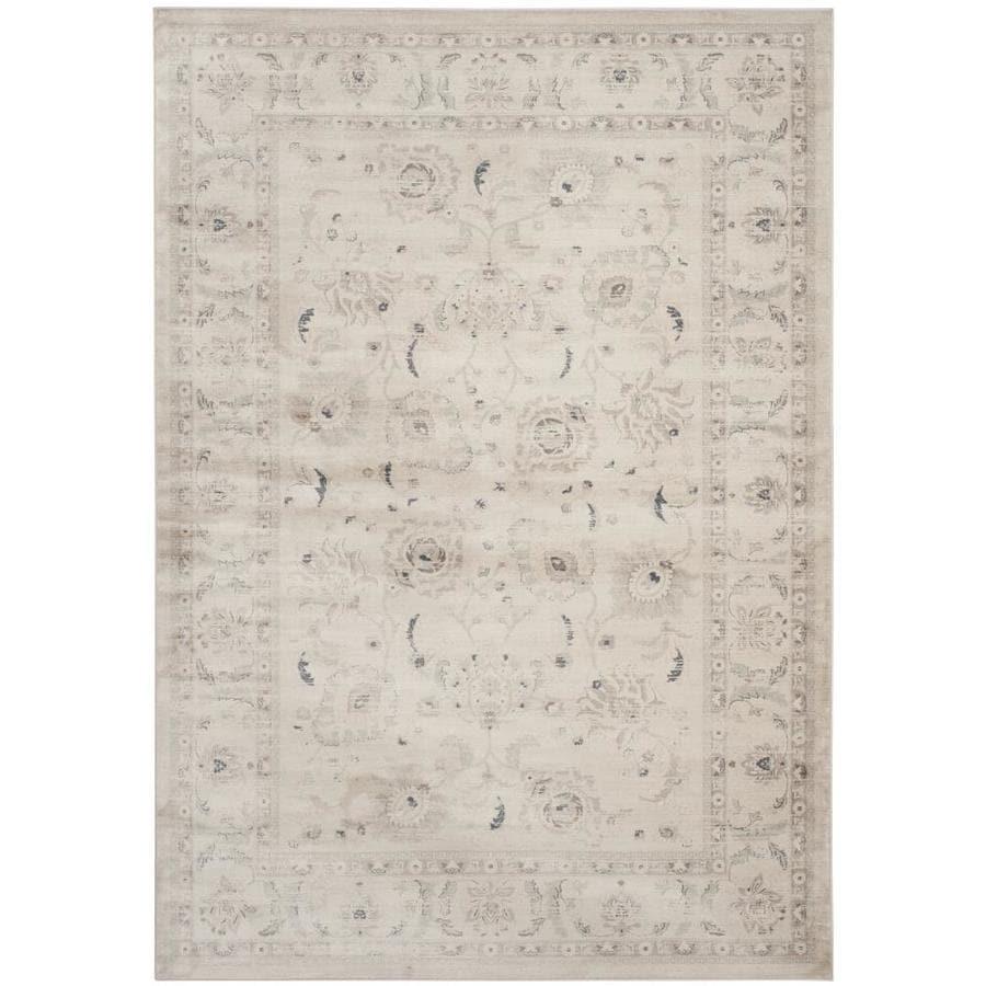 Safavieh Vintage Tabriz Light Gray/Ivory Rectangular Indoor Machine-made Distressed Area Rug (Common: 8 x 11; Actual: 8-ft W x 11-ft L)