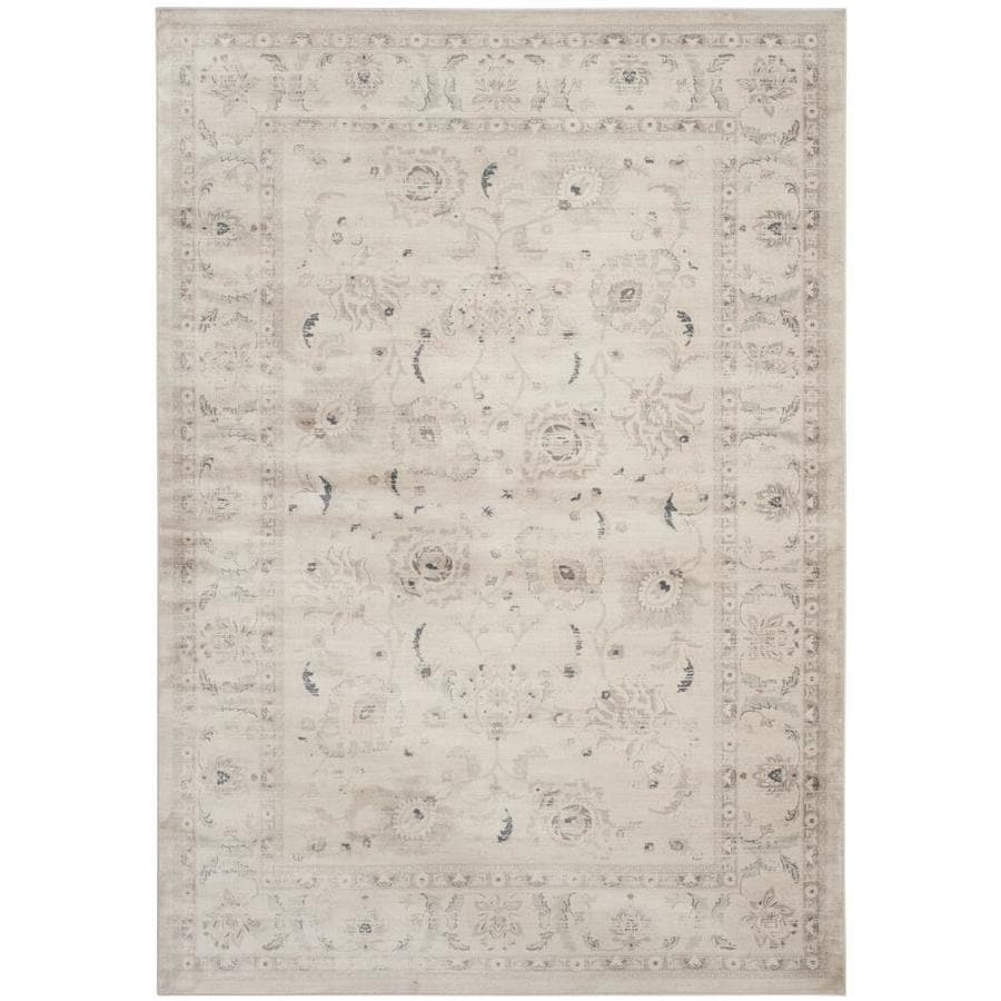 Safavieh Vintage Tabriz Light Gray/Ivory Indoor Distressed Area Rug (Common: 9 x 12; Actual: 9-ft W x 12-ft L)