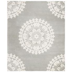43e48ebadfc4 Safavieh Soho Light Gray/Ivory Rectangular Indoor Handcrafted  Farmhouse/Cottage Area Rug (Common