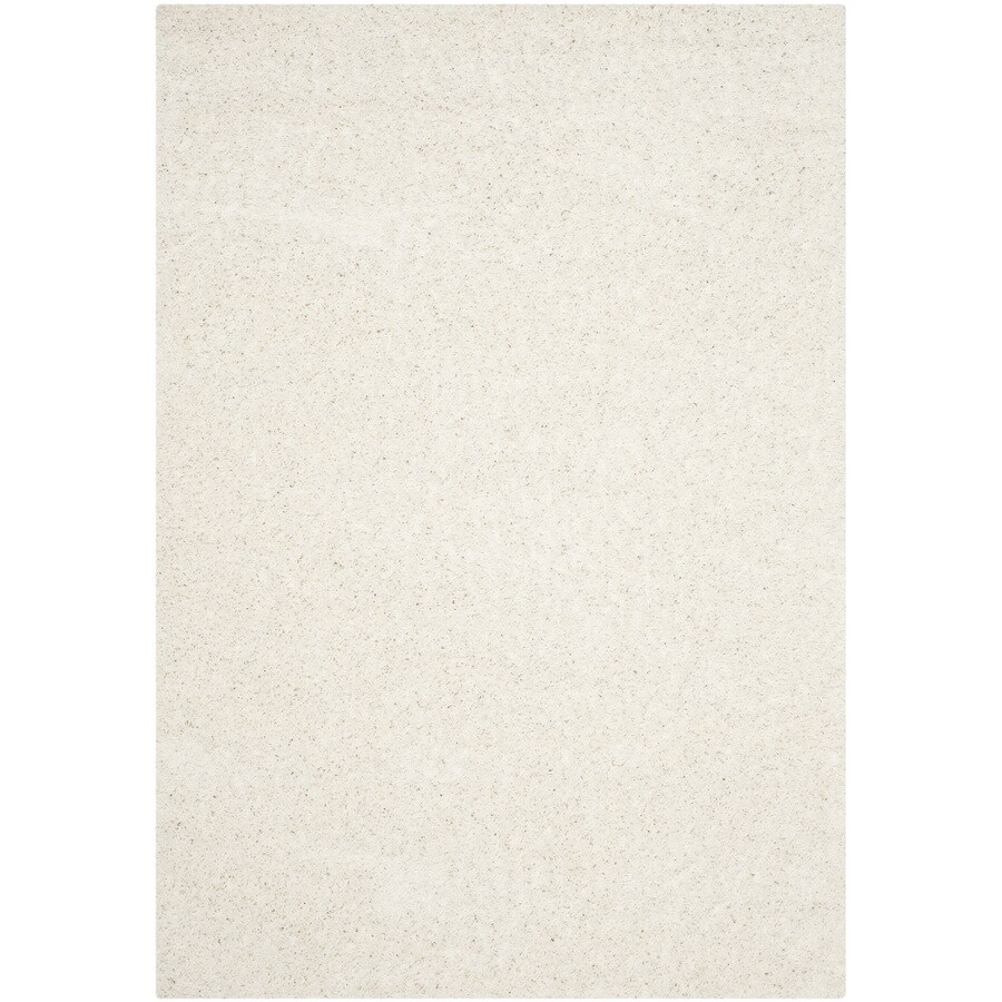 Safavieh Athens Shag White Indoor Moroccan Area Rug (Common: 5 x 8; Actual: 5.1-ft W x 7.5-ft L)