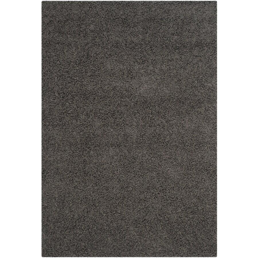 Safavieh Athens Shag Dark Gray Indoor Moroccan Area Rug (Common: 4 x 6; Actual: 4-ft W x 6-ft L)